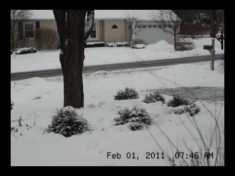 Chicago snowstorm 2011 in 2 minutes (time lapse)