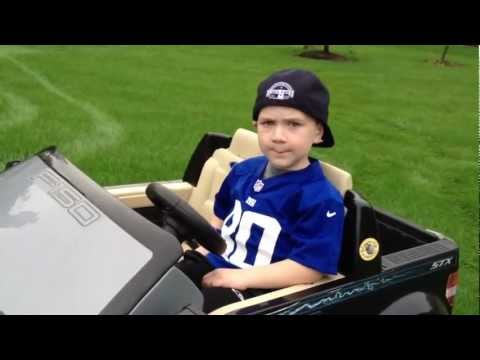 Awesome 5 Year Old Rapper! My Truck - Rap Music Video About His Power Wheels Ford F-150 video