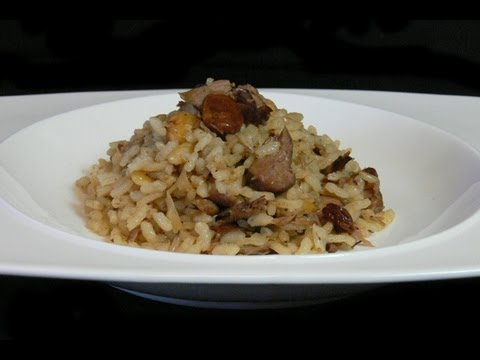 Arroz con cordero y frutos secos