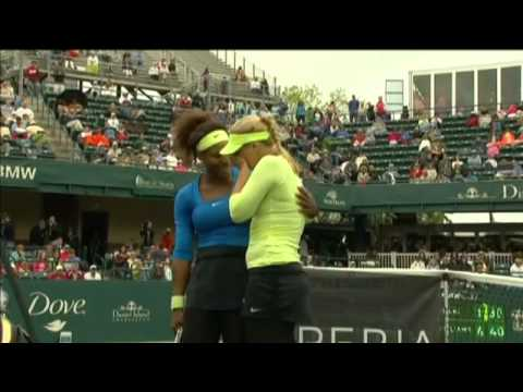 Serena Williams comforts crying and injured Sabine Lisicki