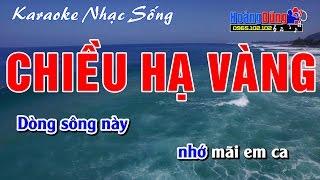 Karaoke Nhạc Sống - Chiều Hạ Vàng - Beat chất lượng cao