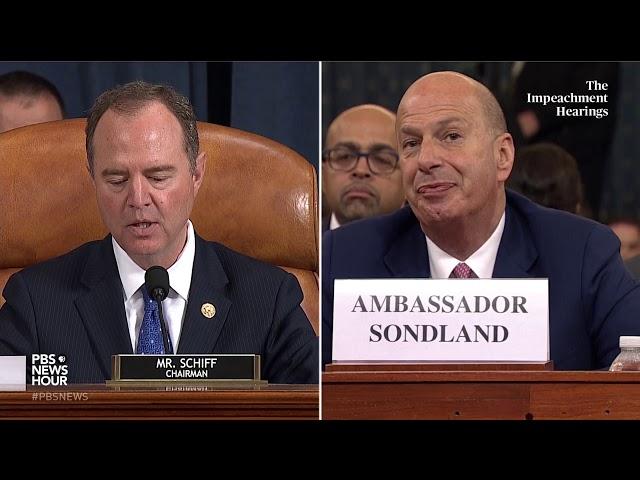 WATCH: Rep. Schiff's full closing statement in Gordon Sondland hearing | Trump impeachment hearings thumbnail
