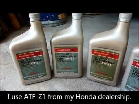 Honda Accord 2002 - Transmission Fluid Change V6 1998 1999 2000 2001 2002
