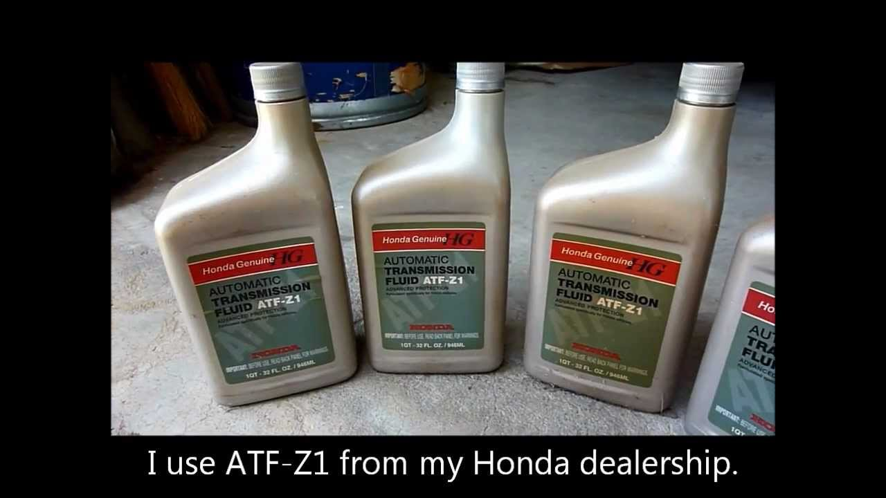 Honda Accord 2002 Transmission Fluid Change V6 1998 1999