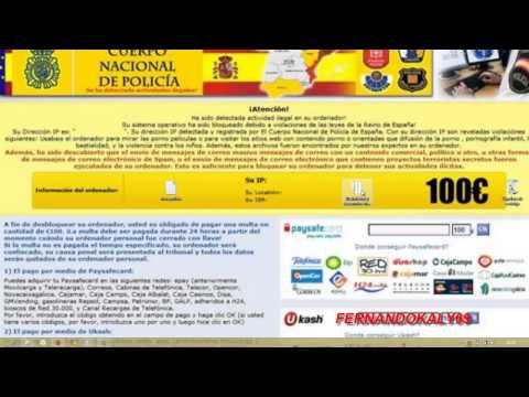 (Ransomware locked virus policia) Desencriptar todos los archivos 13-5-2013
