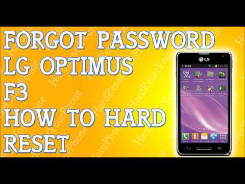 Forgot Password LG Optimus F3 How To Hard Reset