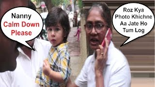 Taimur Ali Khan Nanny Get Angry On Reporters For Taking Photos