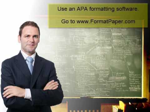 Apa Thesis Paper