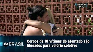 Corpos de 10 vítimas do atentado são liberados para velório coletivo | SBT Brasil (13/03/19)