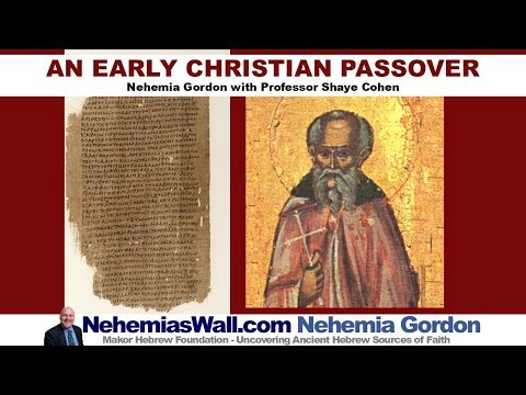 An Early Christian Passover - NehemiasWall.com