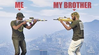 My little brother challenged me to a 1v1... | GTA 5 THUG LIFE #225