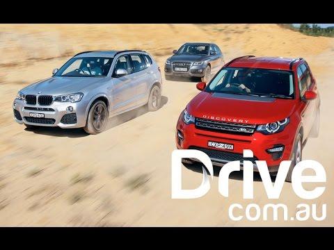 Land Rover Discovery Sport v BMW X3 v Audi Q5 Comparison | Drive.com.au