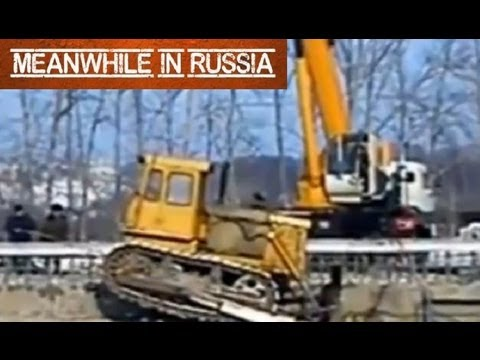 How To Destroy A Bulldozer And A Massive Crane