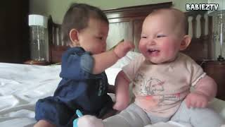 2018  Top 10 Funny Babies Talking Alien language to Each Other Compilation