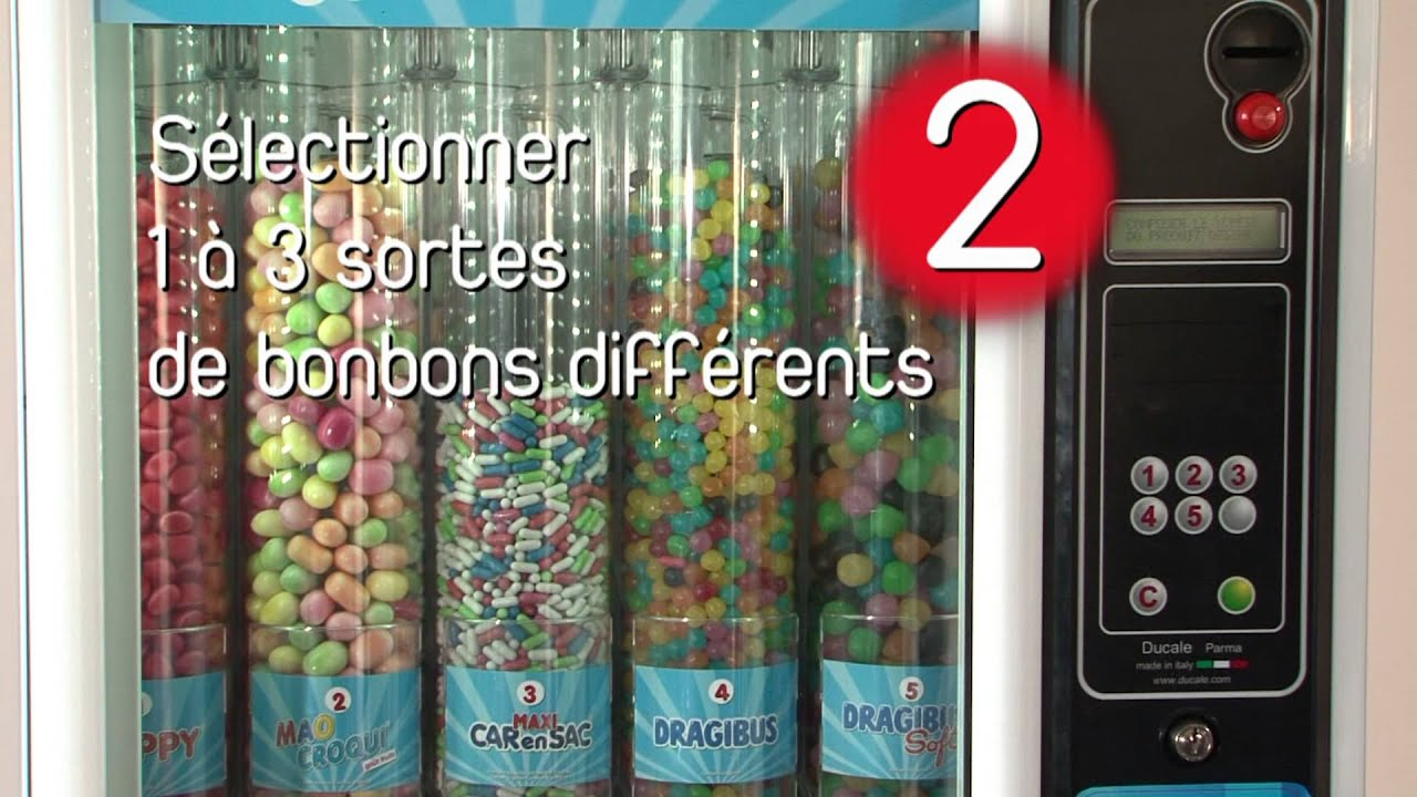slg distributeur de bonbons haribo youtube. Black Bedroom Furniture Sets. Home Design Ideas