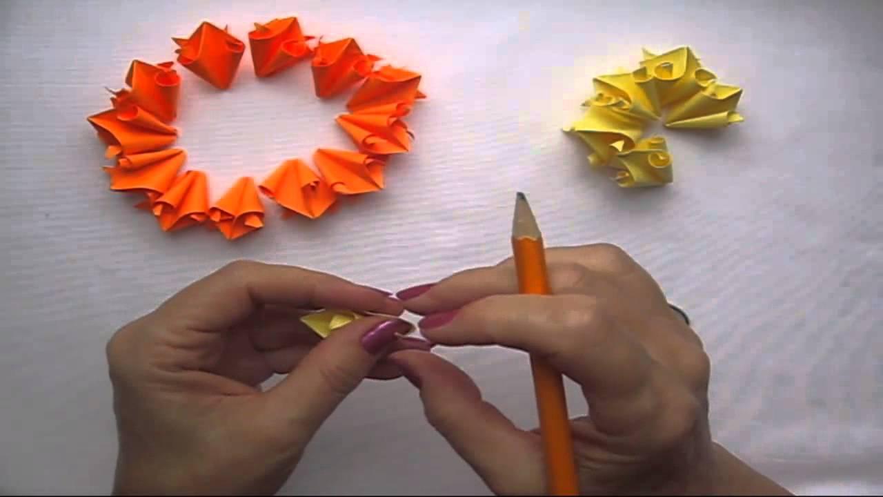 Как из бумаги сделать цветочек на подарок