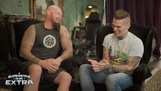 Luke Gallows tells the hilarious story behind his misspelled tattoo: Superstar Ink Extra