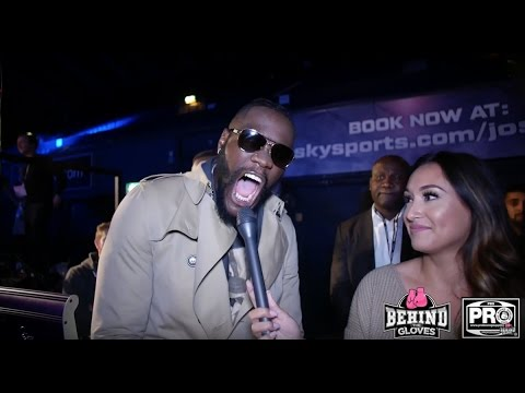 """DEONTAY WILDER HAS A LAUGH @ TYSON FURY POSTS: """"I'D LIKE TO PARTY WITH THAT GUY!!"""""""