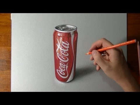 How I draw a coca cola slim can