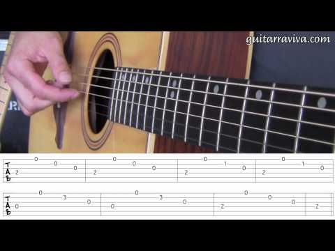 FP 05 - ARPEGIOS LECCION GUITARRA FACIL PRINCIPIANTES APRENDIZ FINGERPICKING leer tablaturas tabs