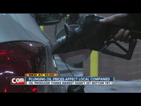 Plunging oil prices affect local companies