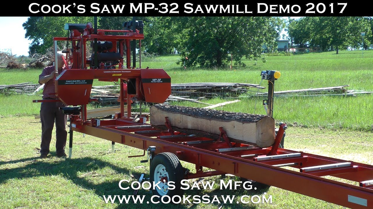 Cooks MP32 Portable Sawmill Demo