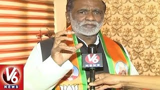 Face To Face With Telangana BJP President Laxman Over Bus Yatra