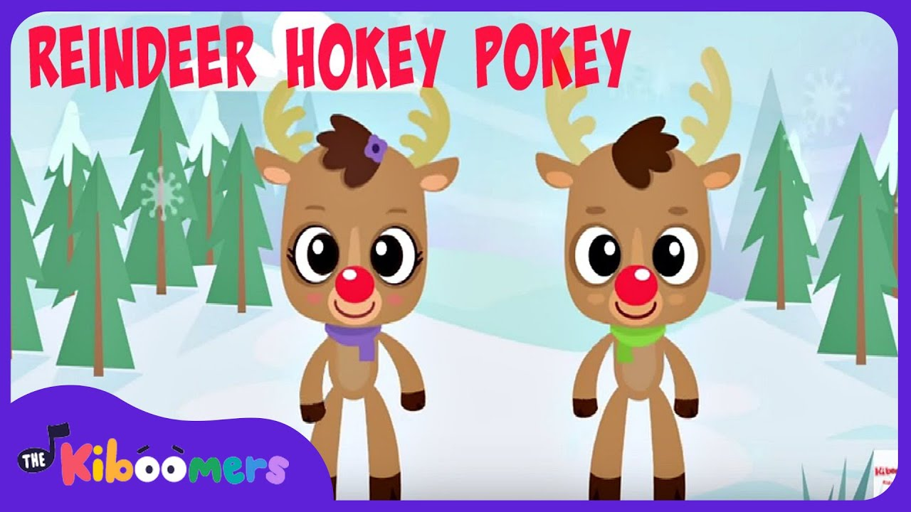 Reindeer Pokey Christmas Songs For Children YouTube