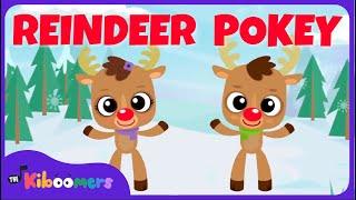 Reindeer Pokey   Christmas Songs for Kids   Reindeer Song   The Kiboomers