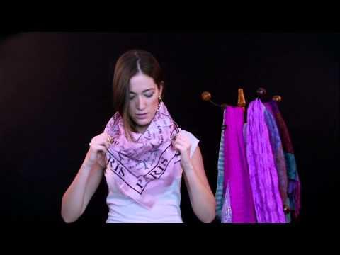 Diferentes Formas de Usar tus Bufandas o Pashminas: por Mary de la Peña