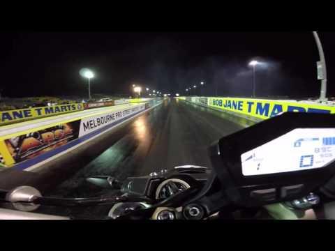 Onboard Yamaha MT-09/FZ-09 Quarter Mile Drag Race | 1/4 mile Drag | 400m Drag Race | GoPro HD