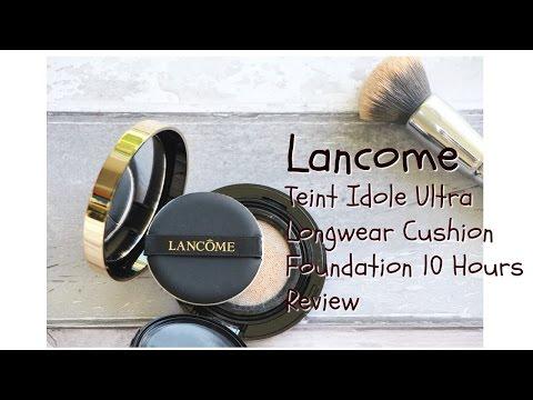Lancome Teint Idole Ultra Longwear Cushion Foundatin|兰蔻持久气垫粉饼10小时实测
