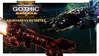 BATTLEFLEET GOTHIC ARMADA 2 | Asuryani vs Adeptus Astartes (1v1 Beta Gameplay Ranked Battle 01)