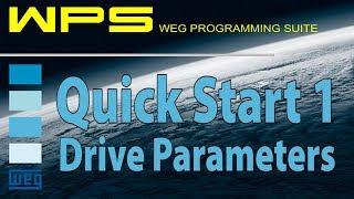 Quick Start - WEG WPS Software and WEG VFD CFW300