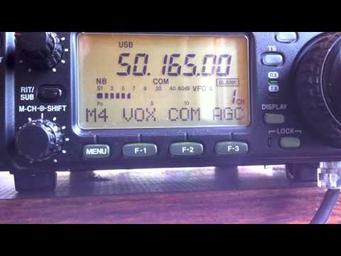 6 meters QRP DX.  N4LI to Caribbean.  50 MHz low-power Amateur Radio.