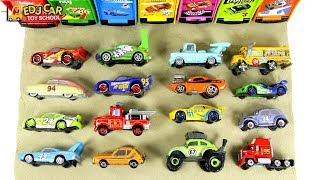 Learning Color Disney Cars Lightning McQueen mack truck stamp sand Play for kids car toys