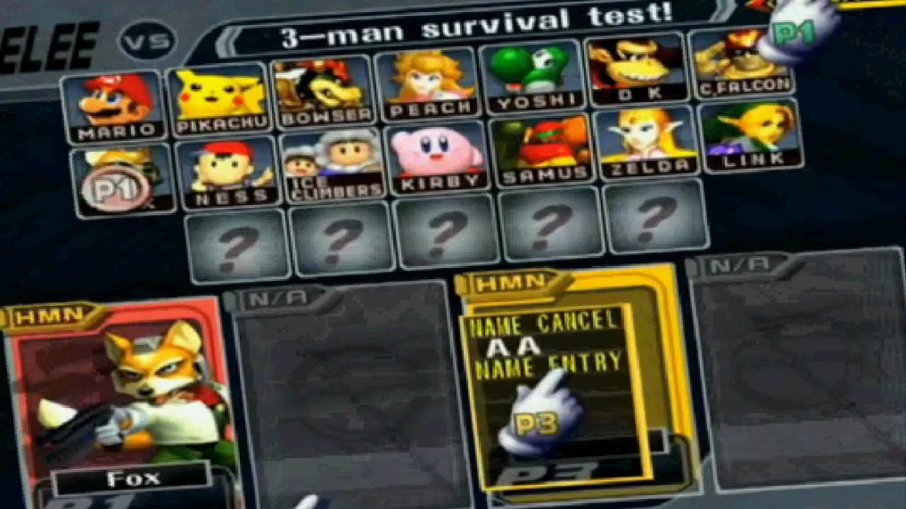 Super Smash Bros Melee How To Play As Master Hand Without Hacks YouTube