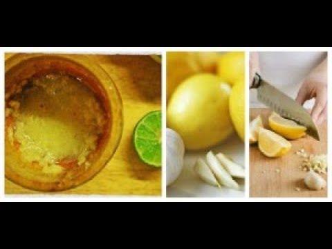 Jugo de ajo y limón remedio casero para bajar de peso y limpiar el colon en 3 días