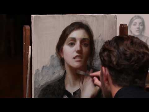 """""""The Layers of Portrait Painting"""" with Joshua LaRock - Painting Day 2 - 9 min excerpt"""