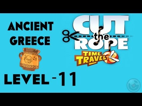 Cut the Rope: Time Travel (Ancient Greece) Walkthrough-3Stars  Level- 11