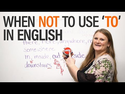 When NOT to use 'to' in English - Grammar