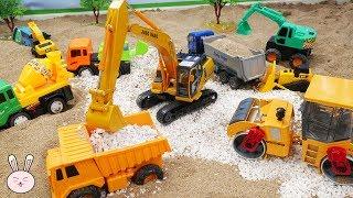 Kids toys | Excavator Dump Truck Cement Mixer Wheels loader Bulldozer | Construction Vehicles YapiTV