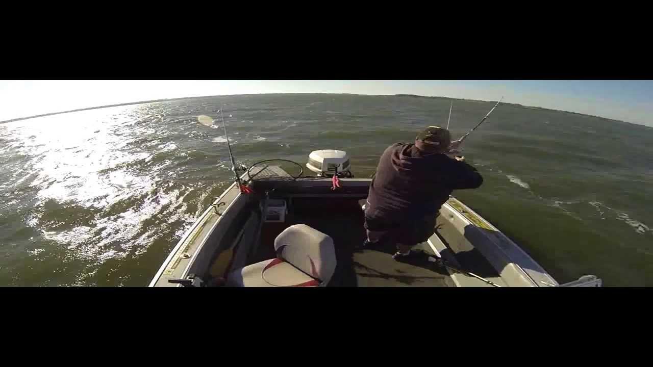 Milford lake kansas blue catfishing youtube for Milford lake fishing report