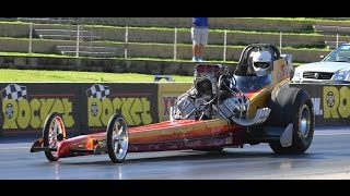 DAVE ARMSTRONG FRONT ENGINE TOP FUEL DRAGSTER 6.43 @ 221 MPH SYDNEY DRAGWAY 28.9.2014
