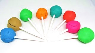 Learn Colors with Play Doh Lollipop & Molds, Surprise Toys Fun for Kids
