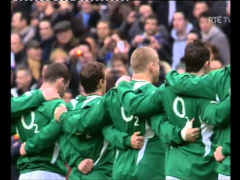 Ireland V France Six Nations Rugby the anthems