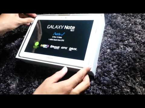 Samsung Galaxy Note 10 1 Unboxing & Overview N8010
