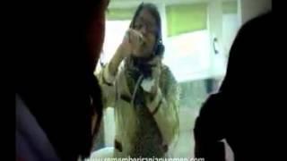 فیلمی از نسرین ستوده در زندان هنگام ملاقات با فرزندانش
