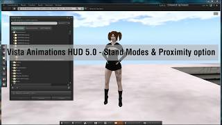 Vista Animations HUD 5.0 - Stand Modes & Proximity option (Second Life)