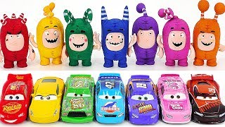 Oddbods Saves Dangerous Tayo! Disney Learn Colors with Car and Oddbods! #PinkyPopTOY